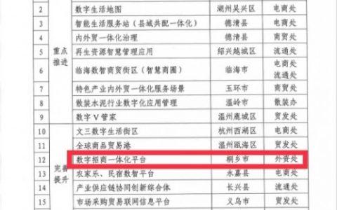 平安智慧政企项目入选浙江省数字政府双循环应用培育库