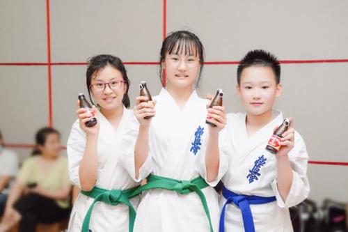 全国青少年武道大会空手道大赛收关,奥乐蜜C元气全程能量加持