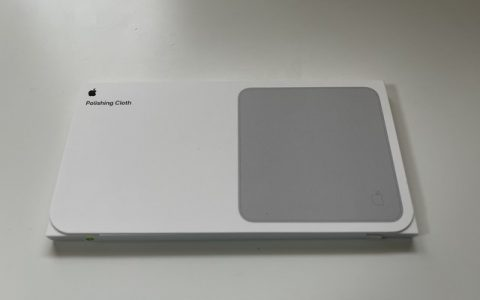 苹果抛光布实拍来了!一块布一个盒一张纸值145元